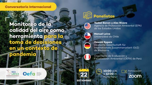 Ver campaña Conversatorio Internacional: «Monitoreo de la calidad del aire como herramienta para la toma de decisiones en un contexto de pandemia»