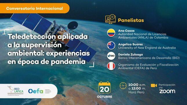 Ver campaña Conversatorio Internacional «Teledetección aplicada a la supervisión ambiental: experiencias en época de pandemia»