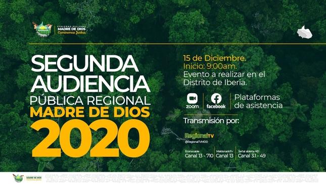 Ver campaña SEGUNDA AUDIENCIA PÚBLICA REGIONAL 2020