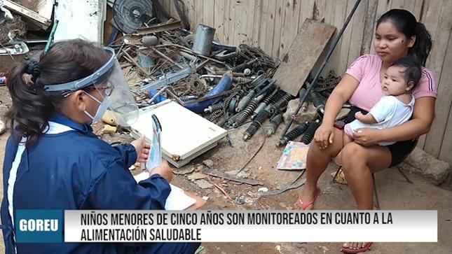 NIÑOS SON MONITOREADOS EN CUANTO A LA ALIMENTACIÓN SALUDABLE