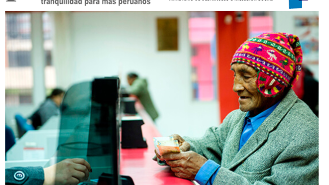 Ver campaña Pensión 65: Programa Nacional de Asistencia Solidaria.