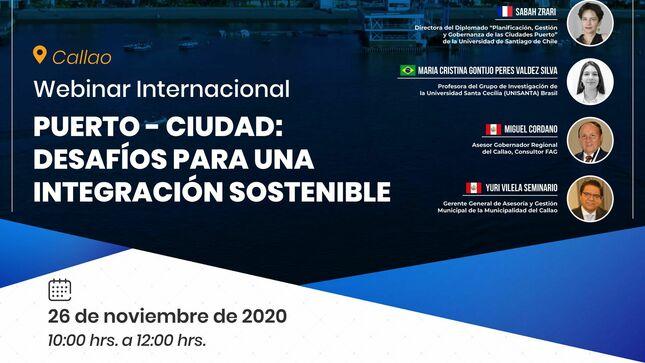 """Ver campaña CALLAO - Webinar Internacional Puerto Ciudad """"Desafíos para una integración sostenible"""""""