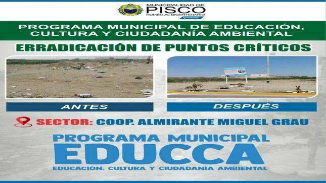 Ver campaña PROGRAMA MUNICIPAL DE EDUCACIÓN, CULTURA Y CIUDADANÍA AMBIENTAL