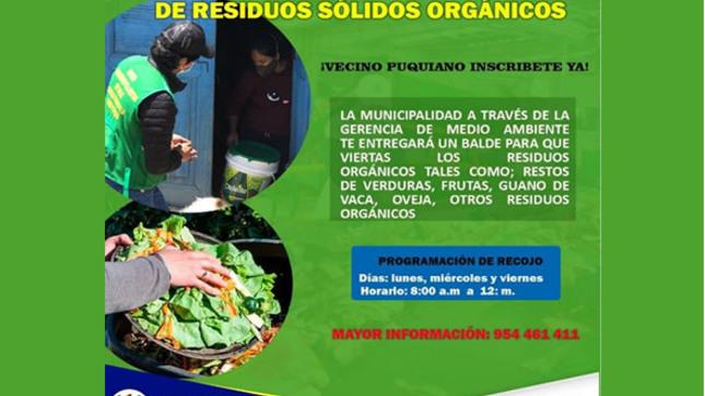 Campaña de segregación de residuos solidos orgánicos
