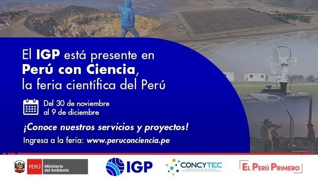 """IGP: Visita nuestro stand virtual en la """"Feria Perú con Ciencia"""" hasta el 9 de diciembre"""