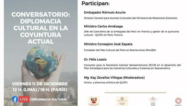 """Ver campaña Conversatorio """"Diplomacia Cultural en la coyuntura actual"""""""