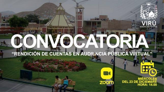 Ver campaña Convocatoria: Rendición de Cuentas en Audiencia Pública