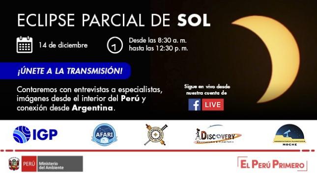 IGP transmitirá el último eclipse parcial de Sol del 2020, vía Facebook Live