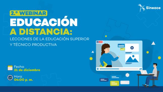 """Ver campaña Webinar """"Educación a distancia: Lecciones de la educación superior y técnico productiva"""""""