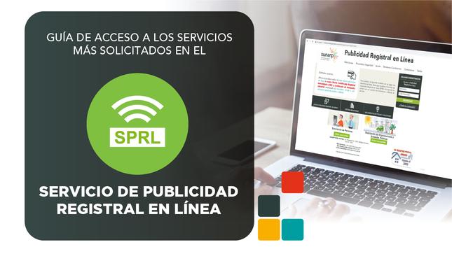 Ver campaña Servicio de publicidad registral en línea - SPRL