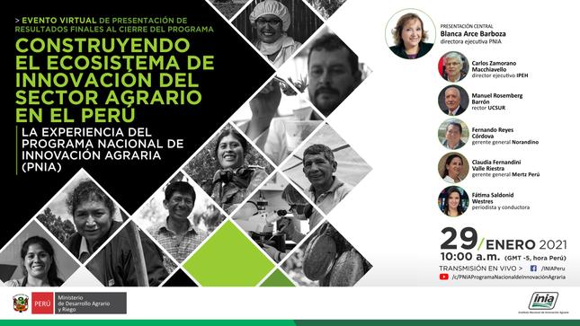 Ver campaña Construyendo el ecosistema de innovación del sector agrario en el Perú: la experiencia del PNIA