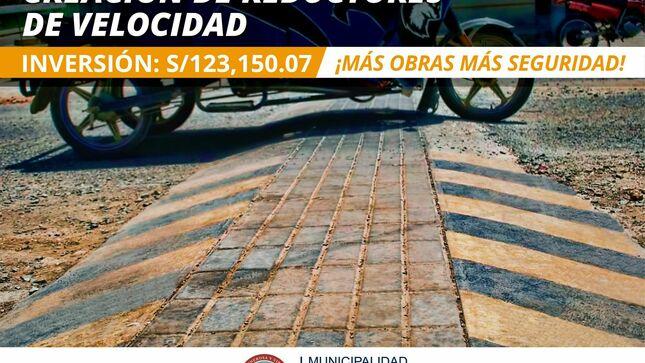 Ver campaña Construcción de Reductores de Velocidad en Chepén