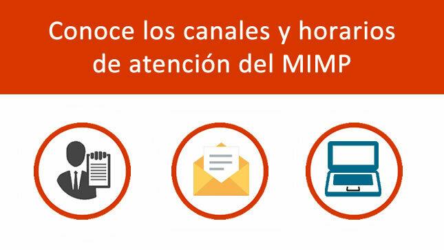 Canales y horarios de atención del MIMP