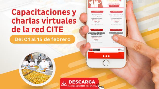 Ver campaña ITP red CITE continúa capacitaciones online conoce aquí el nuevo calendario de febrero