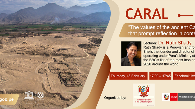 """Upcoming Conference: """"The values of the ancient Caral Civilization that prompt reflection in contemporary society"""" 18 February, 17:00"""