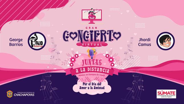 Ver campaña 🎸💓👩❤️💋👨 Gran Concierto Virtual por el Día del Amor y la Amistad