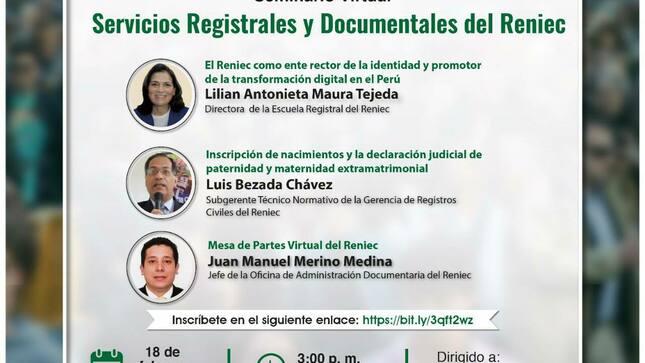 Ver campaña Servicios registrales y documentales del RENIEC