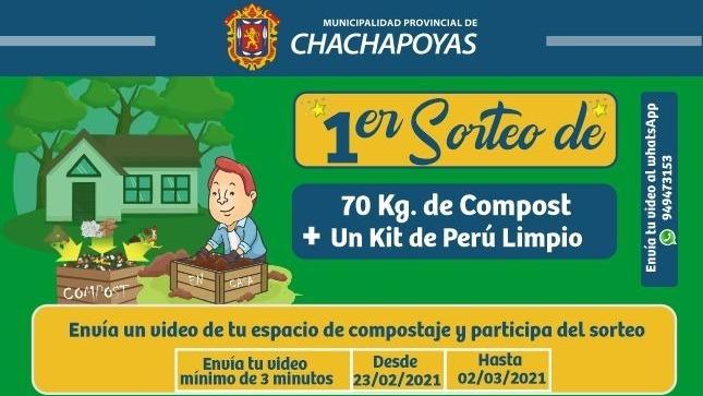 Ver campaña Primer sorteo de compost y kit de Perú Limpio