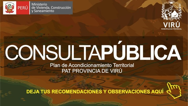 Ver campaña Consulta Pública: Plan de Acondicionamiento Territorial