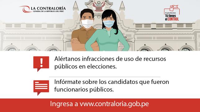 Ver campaña En estas elecciones: Tú tienes el control - Campaña de La Contraloría General de la República del Perú