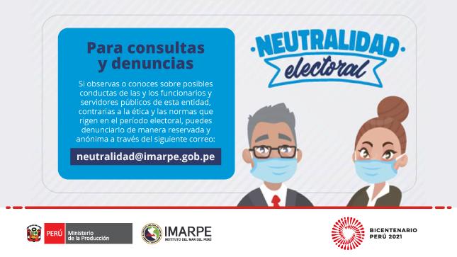 Ver campaña Imarpe implementa correo en el marco de neutralidad electoral