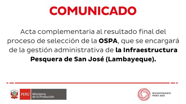 Ver campaña Resultado del proceso de selección para la administración del IPA San José