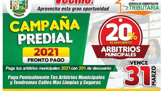 CAMPAÑA PREDIAL - Pronto Pago 2021