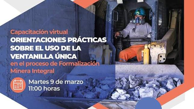Ventanilla Única del proceso de Formalización Minera