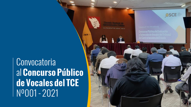 Convocatoria N° 001-2021-OSCE/VTCE