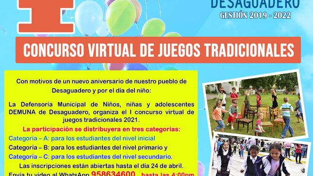 I concurso virtual de juegos tradicionales 2021