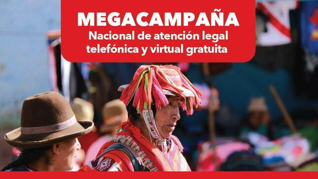 Megacampaña de atención legal telefónica y virtual gratuita