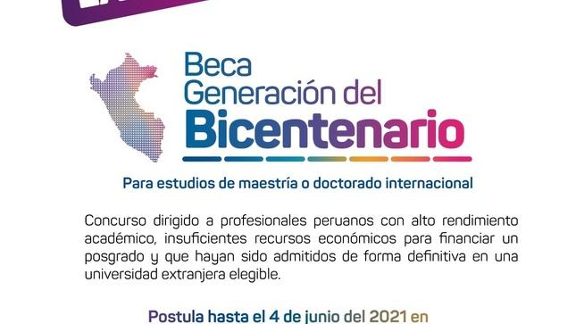 Ver campaña Beca Generación del Bicentenario
