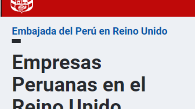 Ver campaña Empresas Peruanas en el Reino Unido