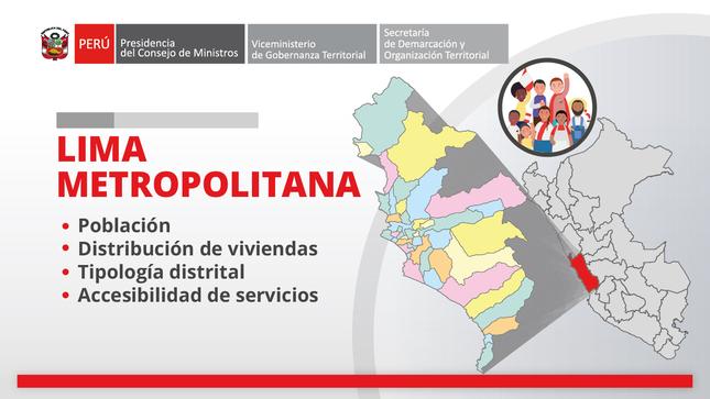 Lima Metropolitana: información territorial
