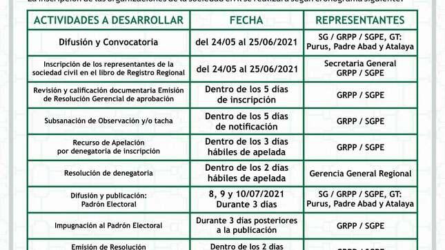 Convocatoria Representantes y Accesitarios Sociedad Civil
