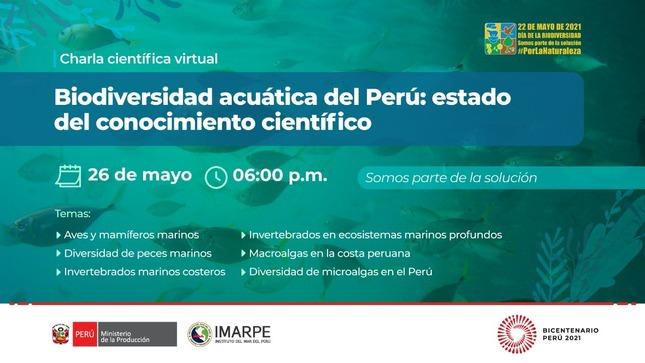 Charla biodiversidad acuática del Perú
