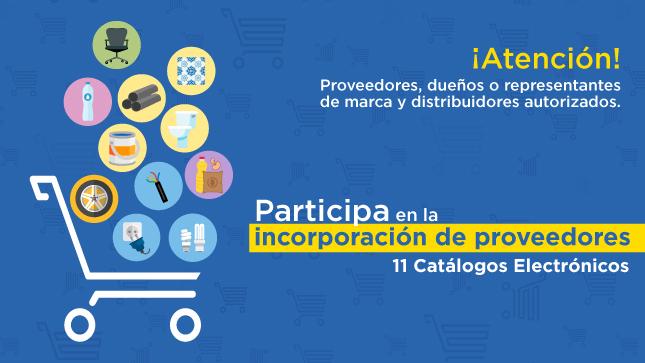 Participa en la incorporación de proveedores en 11 Catálogos