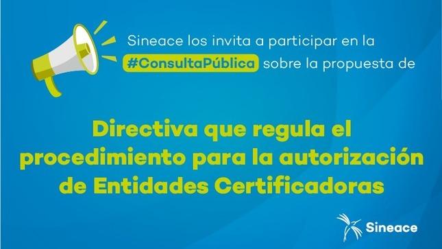 Consulta pública: Directiva en torno a la certificación