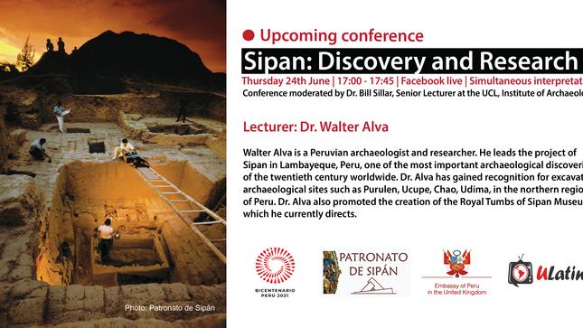 """Conferencia Virtual: """"Sipán, Descubrimiento e Investigación"""""""