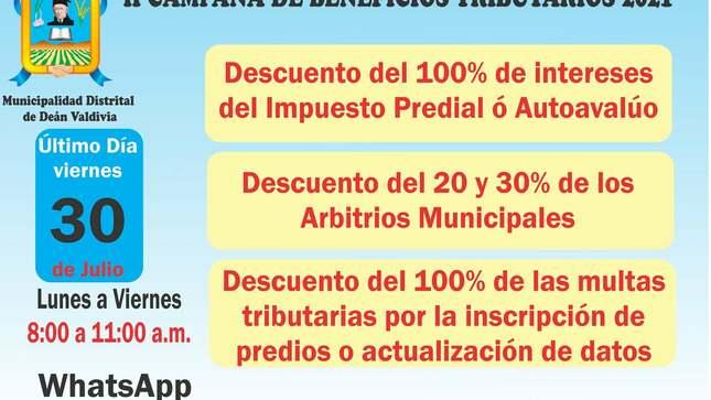 II Campaña de Beneficios Tributarios 2021