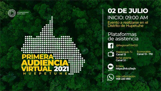 Primera Audiencia Pública Regional 2021