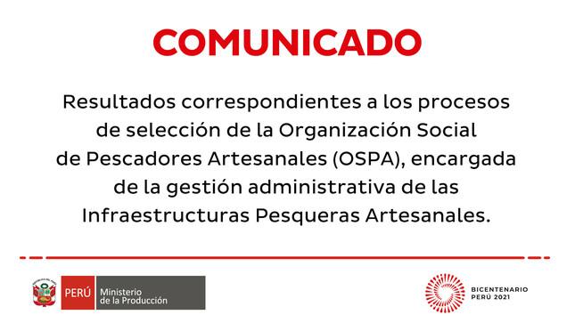 Resultados de los procesos de selección de la OSPA