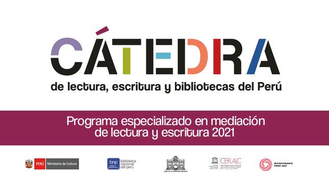 Cátedra de lectura, escritura y bibliotecas del Perú.