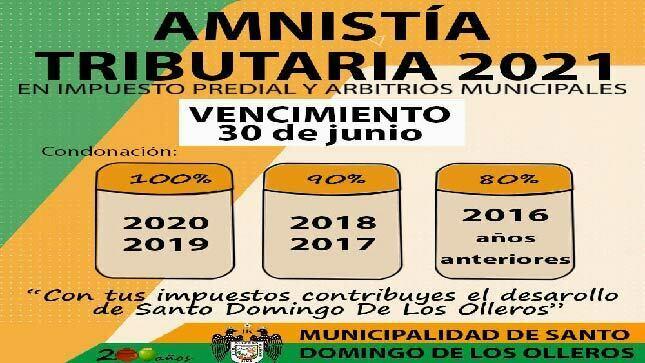 Amnistia Tributaria 2021 - MDSDO