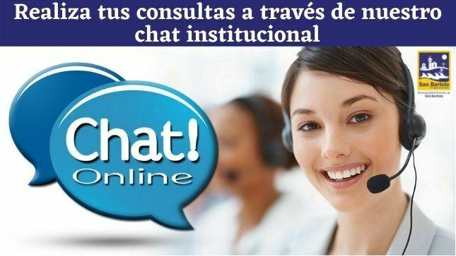 Realiza tus consultas a través de nuestro chat institucional