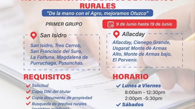 Campaña de Inscripción y Actualización de Datos Rurales