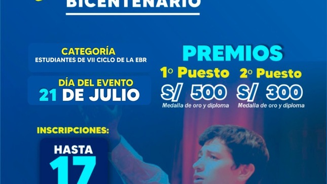 I Concurso Provincial  de Oratoria Voces del Bicentenario