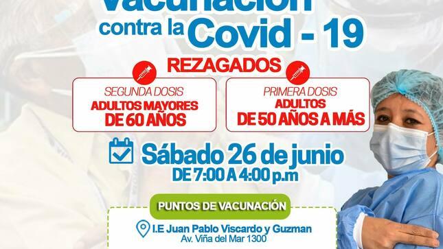 ¡Campaña de Vacunación para #AdultosMayores de 60 años!