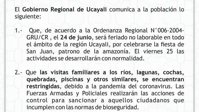 Comunicado Oficial por la Fiestas de San Juan 2021