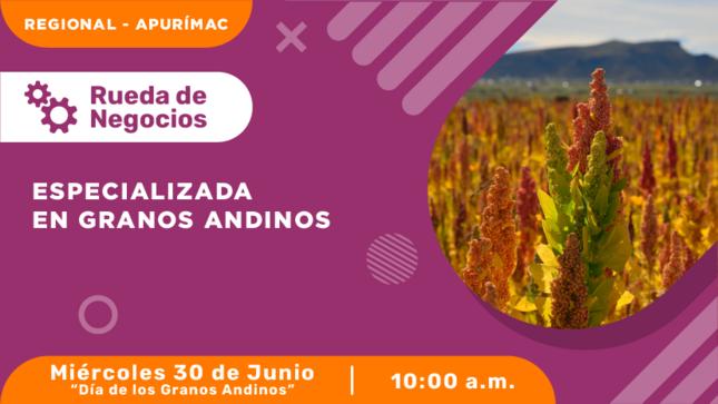 Rueda de Negocios Virtual Especializada en Granos Andinos